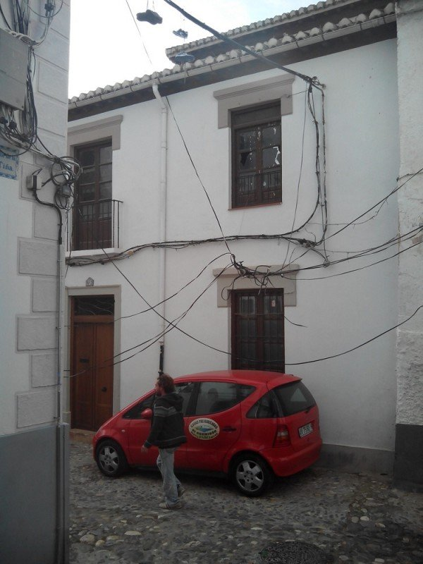 Cableado Albaicín, calle Tiña, calle Quijada