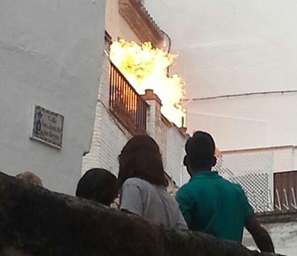 San Juan de los Reyes, Placeta Santa Inés alta, explosión de gas