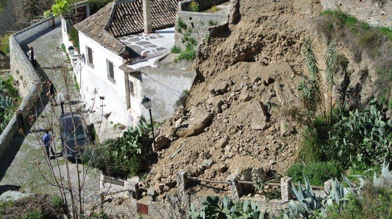 Museo cuevas Sacromonte, desprendimiento