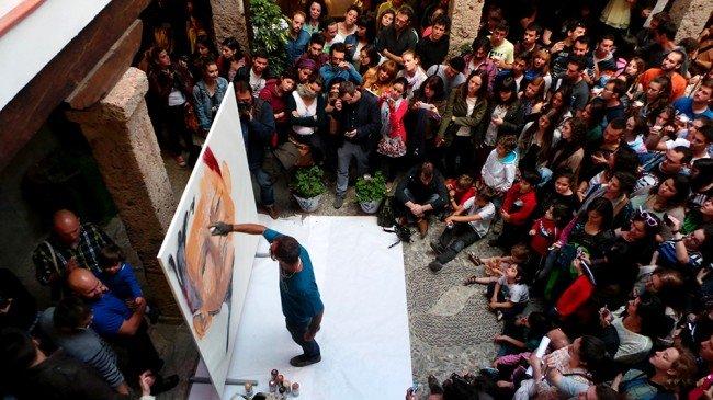 Niño de las Pinturas, grafiti, Corrala deSantiago
