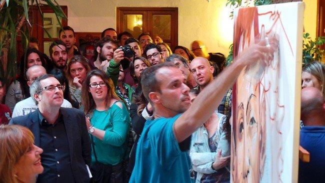 Niño de las Pinturas, exposición, Corrala de Santiago