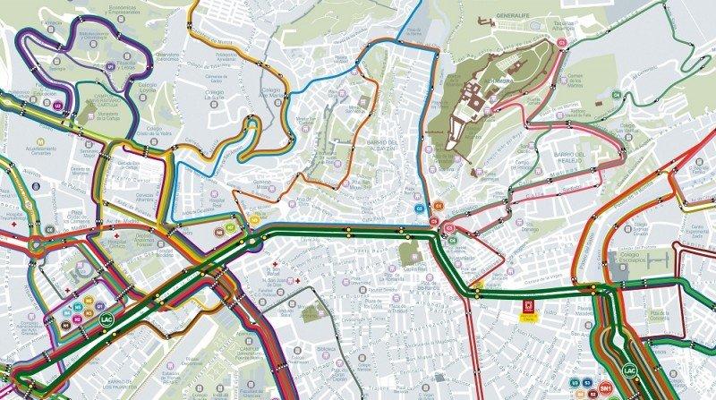 líneas de autobuses transporte urbano Granada