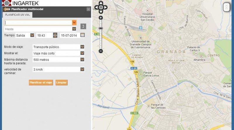 planificador, LAC, Granada, autobuses, movilidad Granada