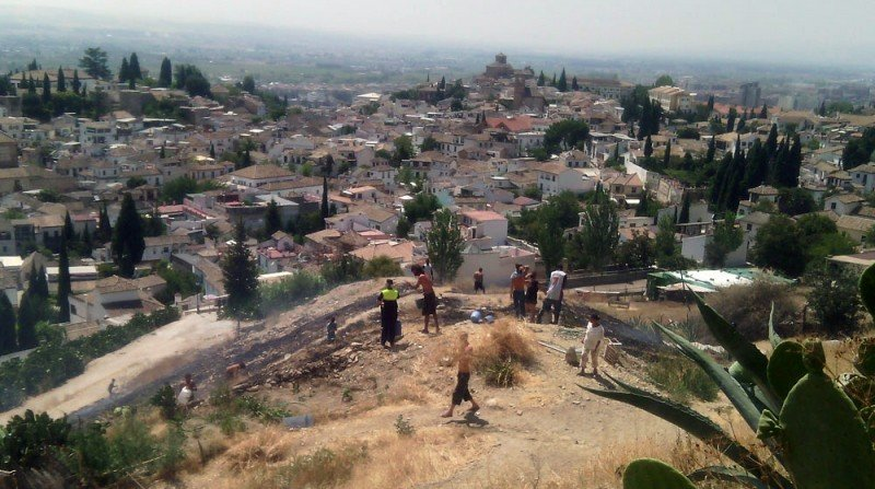 Cuevas de San Miguel Albaicín incendio