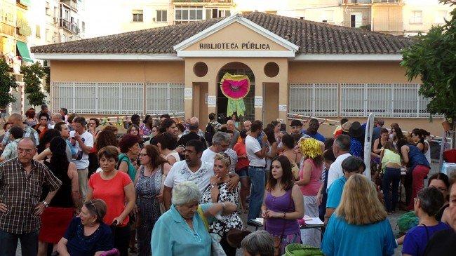 Una de las muchas fiestas reivindicaciones que se han hecho en la Plaza de las Palomas.
