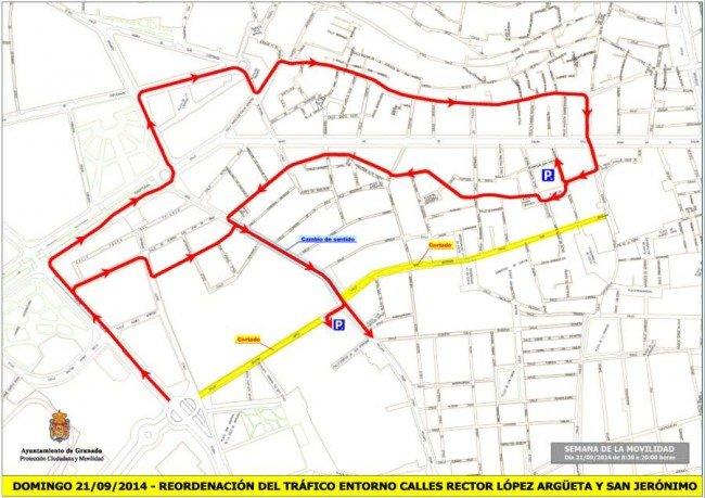 Desvíos tráfico domingo 21 por avtividades SEM