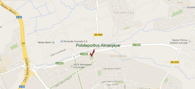 mapa ubicación polideportivo almanjáyar