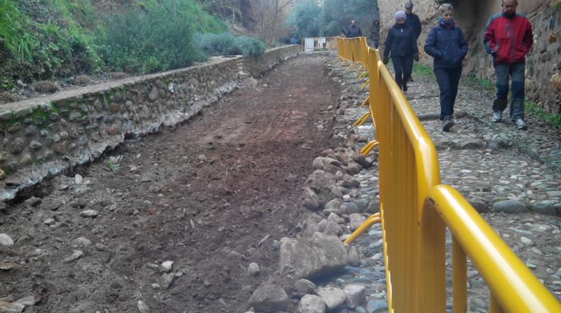 Cuesta de los Chinos empedrado Alhambra Albaicín