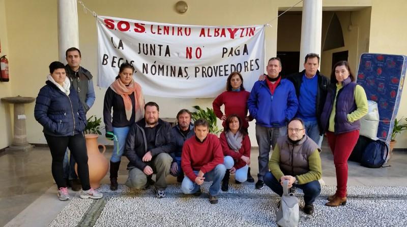 Centro Albayzín encierro protesta