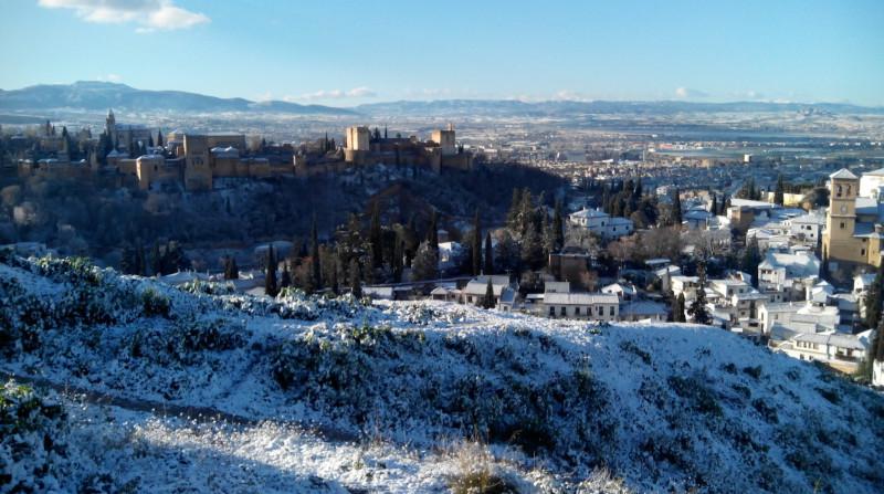 Alhambra nevada cerro de San Miguel