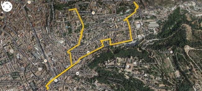 recorrido dobla de Oro, Alhambra, Albaicín