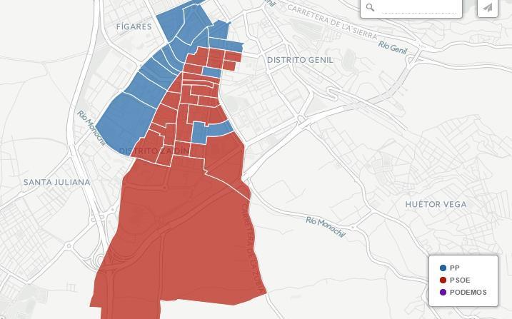 elecciones andaluzas 2015 resultados zaidín granada