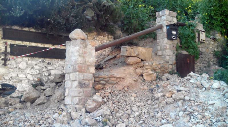Museo Cuevas del Sacromonte derrumbe