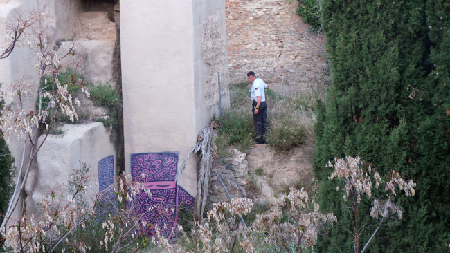 muralla zirí pintadas palacio de dar al horra
