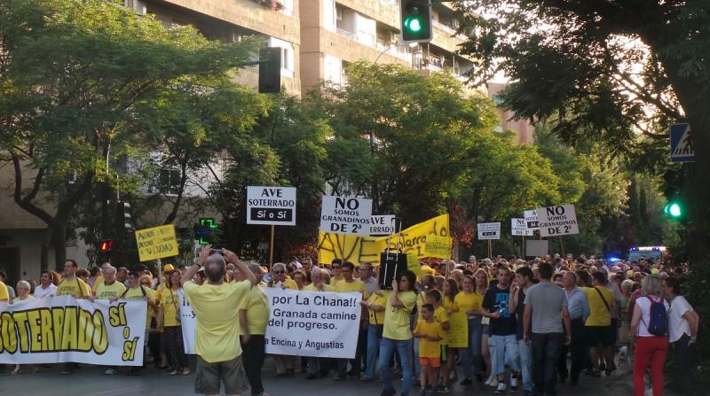 soterramiento ave granada chana manifestación