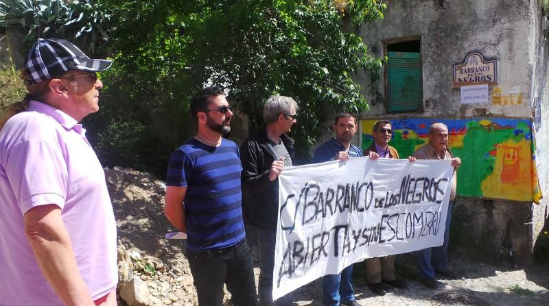 Sacromonte, barranco de los Negros, protesta vecinal