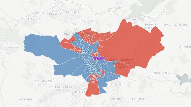 votos por colegios electorales municipales 2015 granada