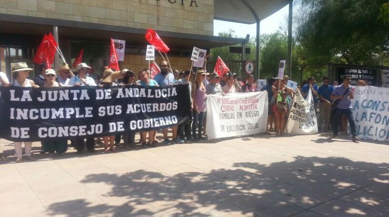 Protesta Centro Albayzín Consorcio Escuela de Formación