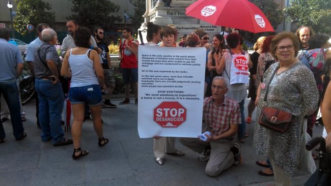 stop desahucios granada ley mordaza