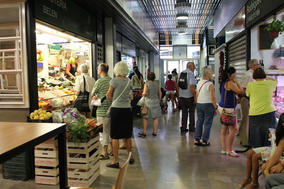 Interior del mercado de San Agustín.