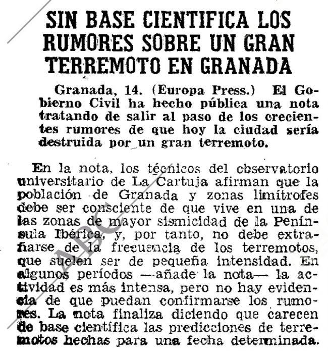 terremoto granada no se puede predecir