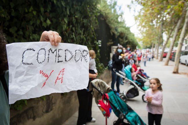 protesta por el servicio de comedor en el CEIP Fuentenueva
