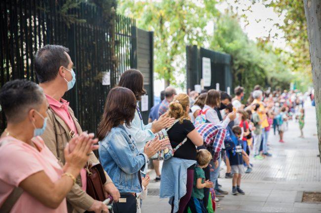 protesta por el comedor escolar en los colegios de granada